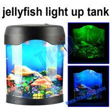 Wholesale! Lovely LED Aquarium Jellyfish Light Up Round Aquariums