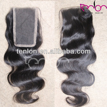wholesale price natural color hand made soft & strong brazilian body wave closure