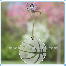 Flat Glass Hanging Basketball Ornaments For Decoration Supplies