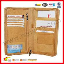 Deluxe Leather Travel Organizer Wallet w Pen Holder