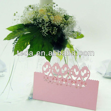 Pearlized Pink Table decoration paper invitation place cards