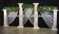 puro mármore branco de casamento decoração de colunas romanas