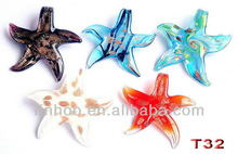 Wholesale Charms Star Pendant Lampwork Glass Pendan Beads New Style Factory Price