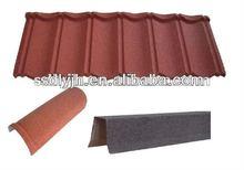 Jinhu Brand colorful stone coated steel roofing tile ridge tile