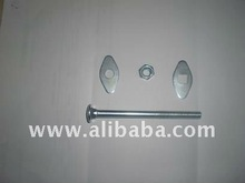 CARRIAGE BOLT, NUT, DIAMOND & RUBBER WASHERS
