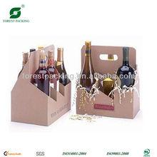 PACKAGING 6 PACK CARRIER WINE BOX FP71151