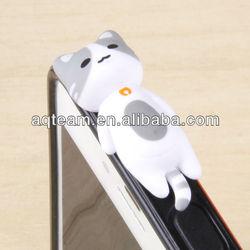 For iPhone dust plug 3D Lazy Enjoyment lying Cat Anti ear dust cap