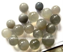 Natural Gray Moonstone Round Plain Balls Loose Stone
