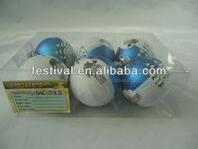 2014 Cheapest printing christmas ball,plastic christmas ball mini led floating ice cube light for christmas