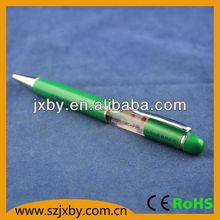 2013 new promotional pen , liquid floating pen , PVC pen