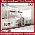 venda quente de madeira carrinho de exposição cosmética contador para venda