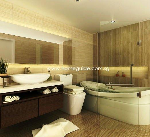Baño De Tina Para Bajar La Fiebre:Tina de baño y todo el interior cuarto de baño ( el diseño del
