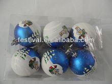 2014 promotion printing christmas ball,plastic christmas ball wall mounted christmas trees