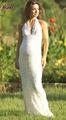 Elegante pg-012 piano capestro lunghezza pizzo abito da sposa incinta 2013