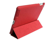 Folio leather case for ipad 5 stand bag