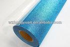 best sell light blue stain design glitter film for flower wrapping