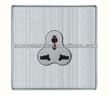 UK standard brushed brass multi 13A switch & socket