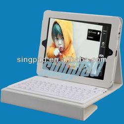 SingFire SF-KY01 Wireless Portable 76-key Bluetooth Keyboard PU + Silicone Case for iPad