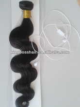 "new arriveing!!!pure virgin Indian human hair 14""-32""inch silk straight and body wave soft and natrual cheap human weaving"