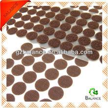 Adhesive low profile velcro circles
