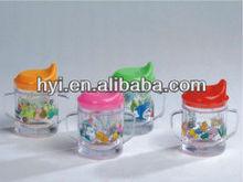 kids plastic double wall freezer juice drinking cups