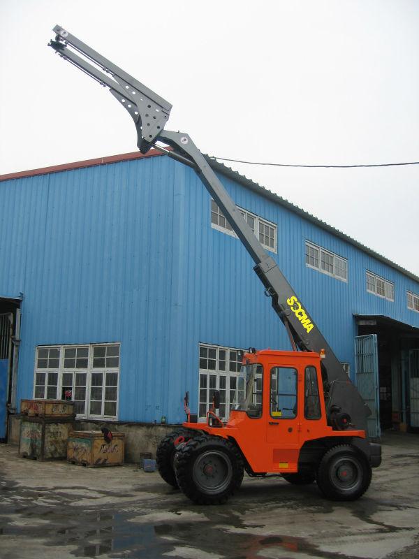 Telescopic Crane Training : Ton telescopic handler f crane view
