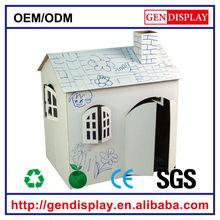 GEN-CH003 high quality DIY kids cardboard house