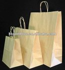 new brown kraft paper bag /Kraft twist handle