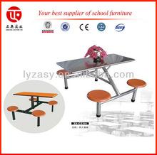 Modern dinning table and chairs for university/college canteen furniture