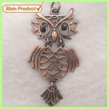 Alloy Antique Copper Vintage Movable Owl Pendant Apparel Accessories #17861