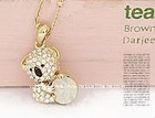 Cute Gold Bear Necklace SW431 Korea Jewelry