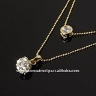 Gold Pearl Necklace ACC2410 Korea Jewelry
