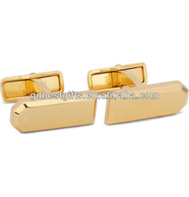 Gold plated brass cufflinks with brand