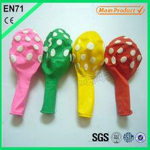 colorful custom printing polka dots balloons latex