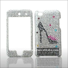 for Apple IPOD Touch 4 brand new Crystal Bling Snap on Faceplate Cover Case