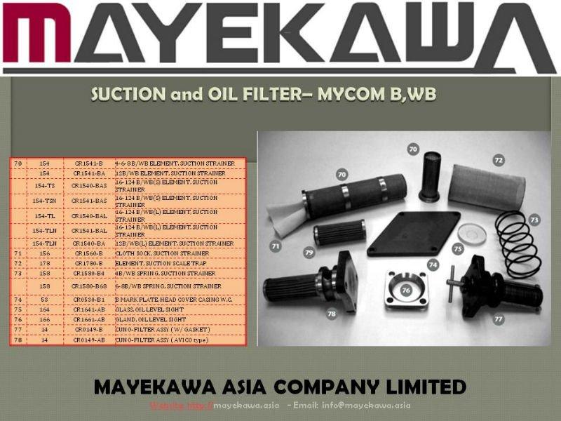 Mycom b, Wb aceite y de filtro de gran succión