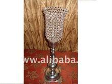 Crystal hurricane candle holder/Antique hurricane candle holder/Wedding candle holder
