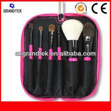 wholesale 6 pcs makeup brush set widh crocodile PU bag