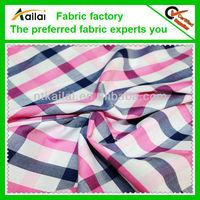 cotton dobby check lurex fabric