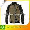 2015 moda chaqueta de cuero de los hombres