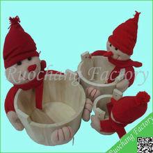 2014 Handmade Baby Shower Gift Baskets with Animal Head, 09-033