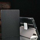 hot selling fold smart cover leather stand case for ipad 2
