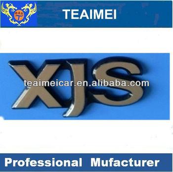 Jaguar XJS car letter chrome emblem auto badge sticker
