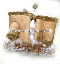 chic fur gloves