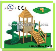 Small wooden children slide