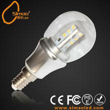 CE & ROHS Samsung 3W 4W led candle light E14 E12
