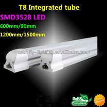 12W Integration T8 LED tube light with high luminous , 600mm/2ft
