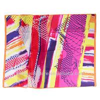 Hot red and fuxia geometric women british scarf silk