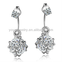E973 Hot sale wholesale earrings vners rhinestone tassel wedding chandelier crystal earrings