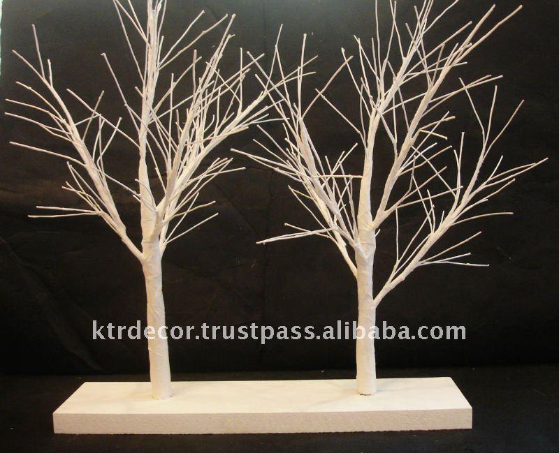 How to Make a Paper Mache Tree Paper Mache Trees on Shelf